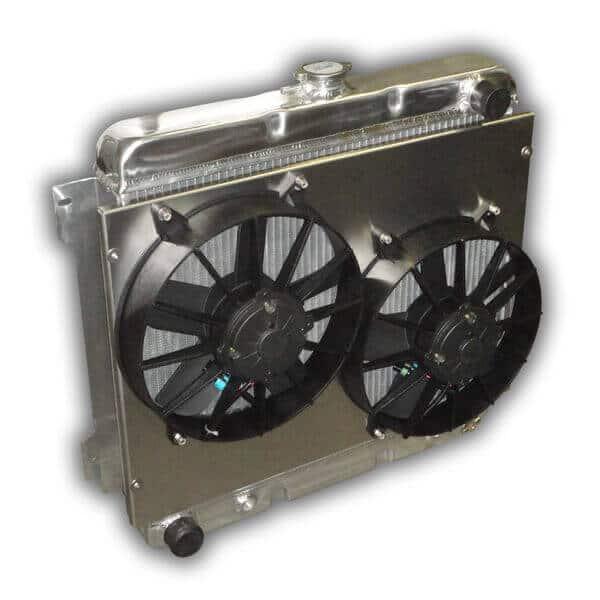 """22"""" Mopar BIG BLOCK HD Aluminum Radiator - Dual Fans And Aluminum Shroud"""