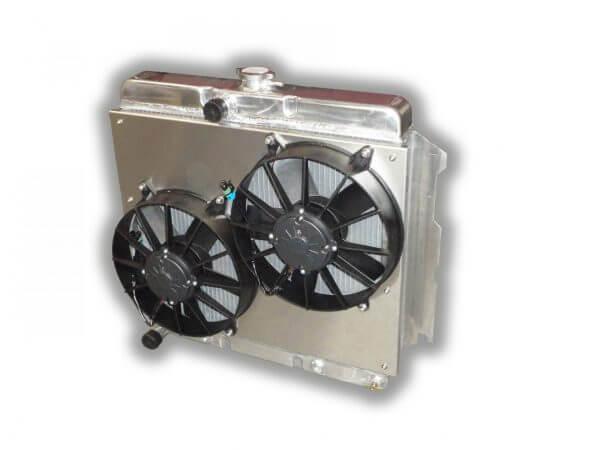"1963 - 1969 Mopar 22"" Radiator - Dual HP Fans - Aluminum Shroud"
