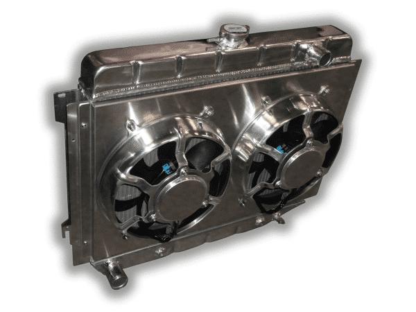 "26"" Big Block Mopar Radiator - Dual HPX Fans And Aluminum Shroud"